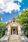 stock photo of crematory  - Thai style crematory site for burn dead people - JPG