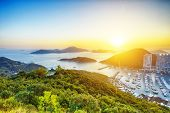 image of typhoon  - Hong Kong beautiful sunset  - JPG