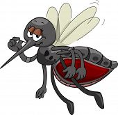 Mascot Illustration Featuring a Satisfied Mosquito Sporting a Bloated Tummy