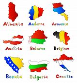 set of europe countries