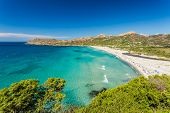 Ostriconi Beach In Balagne Region Of Corsica