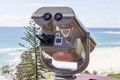 Binoculars at Gold Coast lookout