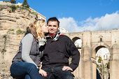 Couple In Love Enjoying Sunny Autumn Day In Ronda