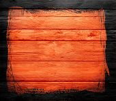 orange wood textured with black border