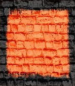 orange brick wall textured background