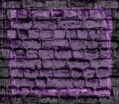 purple brick wall textured background