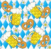 Oktoberfest Seamless Pattern Background