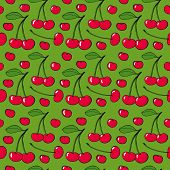 Cherries - seamless vector pattern