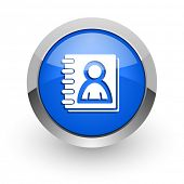 address book blue glossy web icon