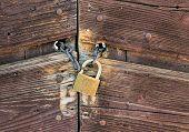 Old Rusty Closed Door