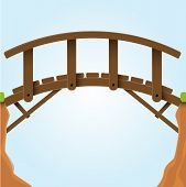 stock photo of covered bridge  - Vector illustration - JPG