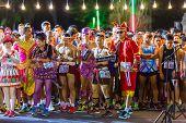 Fancy Running Athletes In Mini-marathon Race