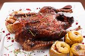 Christmas roast goose