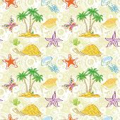 picture of turtle shell  - Seamless tropical background - JPG