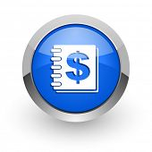 money blue glossy web icon