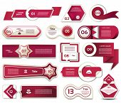 Vector design elements in red-violet. Vector collectio. eps 10