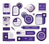 Vector design elements in blue-violet. Vector collection. eps 10