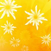 Floral abstract background in yellow and orange. eps 10