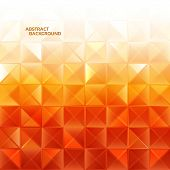 Modern geometrical abstract background in orange color. eps 10