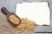 Background With Wheat Grains