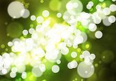 Abstract background green image with bokeh lights
