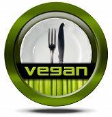 Vegan Restaurant - Green Icon