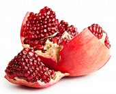 Broken mid pomegranate with seeds