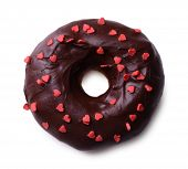 Delicious donut with glaze isolated on white