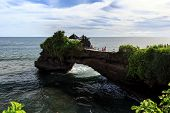 image of tanah  - Coast near Tanah Lot at sunny day Bali Indonesia - JPG