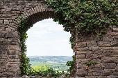 Arched View from France's Cordes-sur-Ciel