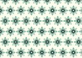 Green Tribal Bloom And Lobe Pattern On Pastel Background