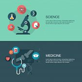 vector science and medicine banners