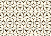 Brown Modern Sweet Blossom Pattern On Pastel Background