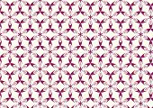 Purple Modern Sweet Blossom Pattern On Pastel Background
