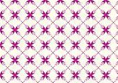 Purple Sweet Bloom In Abstract Shape Pattern On Pastel Background