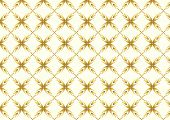Gold Sweet Bloom In Abstract Shape Pattern On Pastel Background