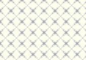 Silver Sweet Bloom In Abstract Shape Pattern On Pastel Background