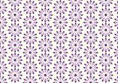 Purple Lovely Bloom In Modern Shape Pattern On Pastel Background