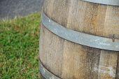 Wooden Oak Wine Barrel
