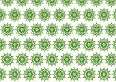 Dark Green Retro Bloom And Arrow Shape And Lobe Pattern On Pastel Background