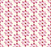 Red Sweet Fireworks And Circle Pattern On Pastel Background