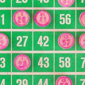 Green Bingo Card Isolated