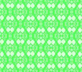 Green Vintage Flower And Swirl Pattern In Classic Style