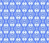 Blue Vintage Flower And Swirl Pattern In Classic Style