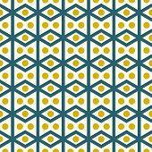 stock photo of parallelogram  - Dark blue rhombohedron or parallelogram pattern on pastel background - JPG