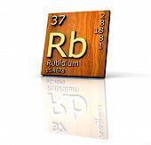 Rubidium Form Periodic Table Of Elements  - Wood Board poster