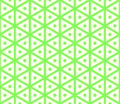 Green Vintage Hexagon And Circle Pattern On Pastel Color