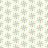 Orange And Blue Turbine Seamless Pattern On Pastel Background