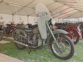 Old Moto Guzzi Falcone Belonged To The Italian Traffic Police