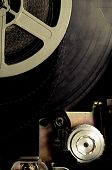 Old Fashioned Movie Reel In 8Mm Projector Detail